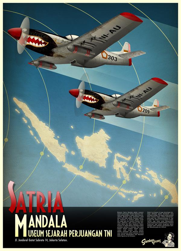 Erlangga djojo Saputro - Poster Satria Mandala color soember girang