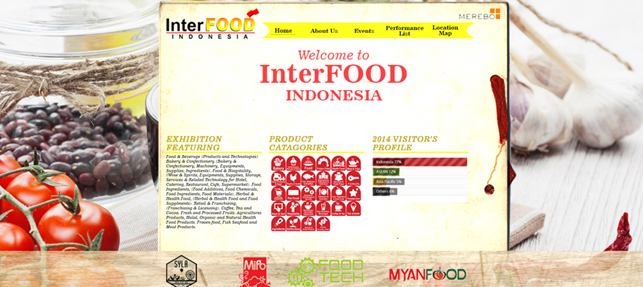 Redesign Website Food Festival (INTERFOOD INDONESIA) karya Liliana Wijaya
