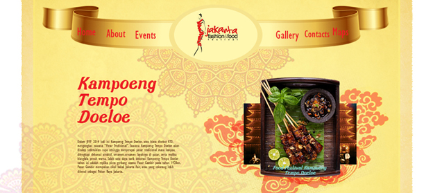 Redesign Website Food Festival ( Jakarta Fashion and Food Festival ) karya Aulia Darmawan