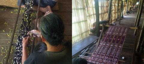 Kerajinan tenun Sintang, Kalimantan Barat. Dokumentasi: Sari Wulandari.
