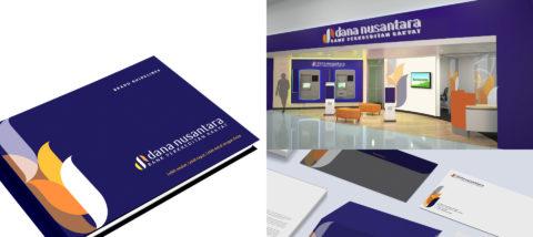 Identitas visual: BPR Dana Nusantara. Desain: Michelle Noriva. Studio: Tugas Akhir.