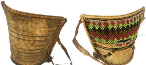 Gendongan bayi suku Dayak Bahau (koleksi Museum Nasional). Dokumentasi: Sari Wulandari.