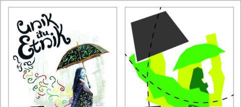 Komposisi asimetris. Desain: Ardianti Nourindah dkk. Studio: DKV.
