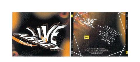 Kemasan: CD GIGI Live. Desain: Elviany Widya. Studio: DKV.