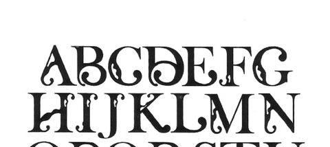 Huruf: tanpa nama. Desain: Delvi Kartikawati. Studio: Tipografi.