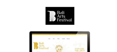 Antarmuka situs: Bali Arts Festival 01. Desain: Pramuditho. Studio: New Media.