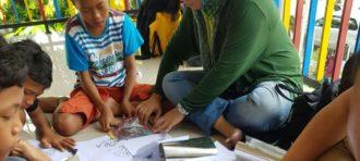 P2M Dosen DKV-New Media kepada SMK Tunas Jakasampurna Bekasi (Cetak sablon)